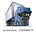 cartoon semi truck. available...   Shutterstock .eps vector #1363988474