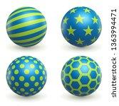 green and blue textured 3d... | Shutterstock .eps vector #1363994471