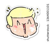 distressed sticker of a happy... | Shutterstock . vector #1364001101