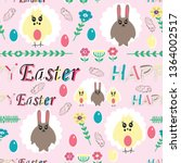 seamless cute pattern with... | Shutterstock .eps vector #1364002517