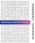 industrial vector icon set | Shutterstock .eps vector #1364009654