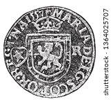 plack of a scotch billon coin... | Shutterstock .eps vector #1364025707