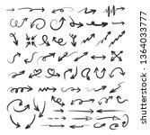 set of arrow in hand drawing... | Shutterstock .eps vector #1364033777