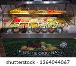 fruit orange in stainless steel ... | Shutterstock . vector #1364044067