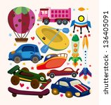 set of transport icons | Shutterstock .eps vector #136405091