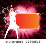 funky vector frame | Shutterstock .eps vector #13640515