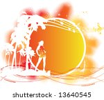 tropical backgrounds | Shutterstock .eps vector #13640545