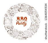 bbq and grill banner with...   Shutterstock .eps vector #1364054534