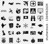 cartography icons set. simple...   Shutterstock .eps vector #1364062634
