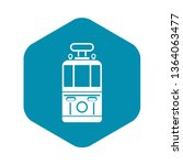 tram front view icon. simple... | Shutterstock .eps vector #1364063477