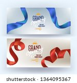 grand opening cards. vector... | Shutterstock .eps vector #1364095367