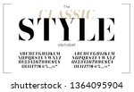 classic vector serif font and... | Shutterstock .eps vector #1364095904