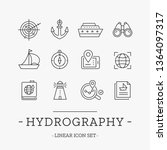 hydrography icons set. vector...   Shutterstock .eps vector #1364097317