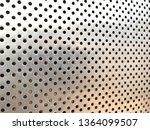 closeup aluminum dot pattern...   Shutterstock . vector #1364099507
