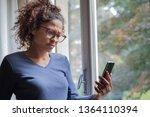 portrait of doubtful black... | Shutterstock . vector #1364110394