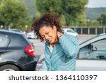 woman feeling neck ache after... | Shutterstock . vector #1364110397