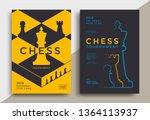 chess tournament poster... | Shutterstock .eps vector #1364113937