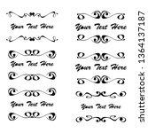 set of vector vintage frames... | Shutterstock .eps vector #1364137187