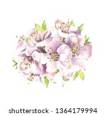 blooming spring. watercolor...   Shutterstock . vector #1364179994