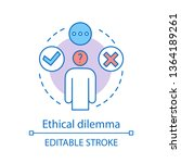 ethical dilemma concept icon....   Shutterstock .eps vector #1364189261