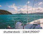 Sailboat Sailing On A Warm...