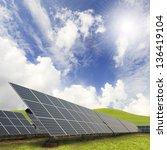 solar energy plants and blue sky | Shutterstock . vector #136419104