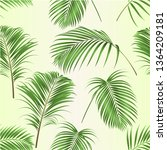 seamless texture palm leaves ...   Shutterstock .eps vector #1364209181