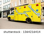 an ambulance car on the side... | Shutterstock . vector #1364216414