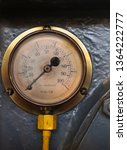 An Old Brass Pressure Meter...