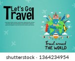 it s time to travel.trip to... | Shutterstock .eps vector #1364234954
