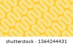 white waves on yellow...   Shutterstock .eps vector #1364244431