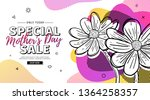 modern template design for mom... | Shutterstock .eps vector #1364258357