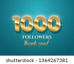 1000 followers celebration... | Shutterstock .eps vector #1364267381
