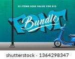 font presentation template....   Shutterstock .eps vector #1364298347