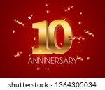 template logo 10 years... | Shutterstock . vector #1364305034