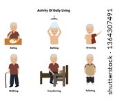vector set senior activity of... | Shutterstock .eps vector #1364307491
