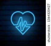blue neon sign on dark wall...   Shutterstock .eps vector #1364320427