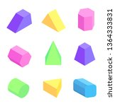 bright geometric figures set... | Shutterstock . vector #1364333831