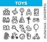 children toys linear vector... | Shutterstock .eps vector #1364339921