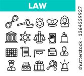 law and order linear vector... | Shutterstock .eps vector #1364339927