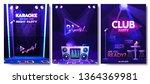 a set of flyer design template...   Shutterstock .eps vector #1364369981