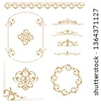 set of vintage elements. frames ... | Shutterstock .eps vector #1364371127