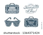 summer labels  logos  and...   Shutterstock .eps vector #1364371424