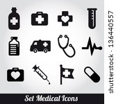 set of medical icons  vector... | Shutterstock .eps vector #136440557