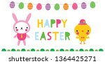 easter vector banner with a... | Shutterstock .eps vector #1364425271