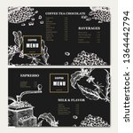 coffee illustration menu. hand... | Shutterstock .eps vector #1364442794