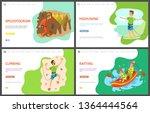 speletourism and man climbing...   Shutterstock .eps vector #1364444564