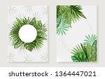set of fresh green color frames ...   Shutterstock .eps vector #1364447021