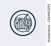 data analysis icon in trendy...