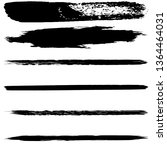 a set of brush strokes of black ... | Shutterstock .eps vector #1364464031
